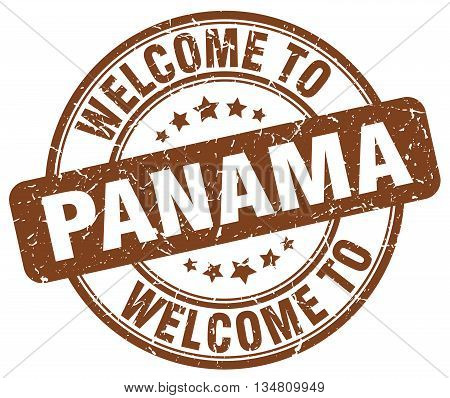welcome to Panama stamp. welcome to Panama.