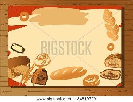 Set Of Illustration Of Hand Drawn Bread For Menu Bake Shop And H