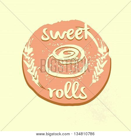 Logo Template For Confectionery, Bakery. Sweet Roll Store, Marke