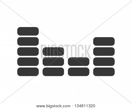 Music concept represented by audio and voice icon over flat and isolated design