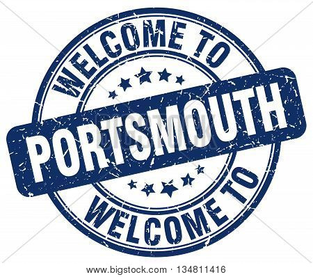 welcome to Portsmouth stamp. welcome to Portsmouth.