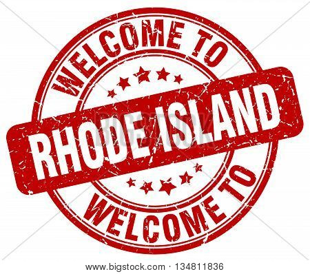 welcome to Rhode Island stamp. welcome to Rhode Island.