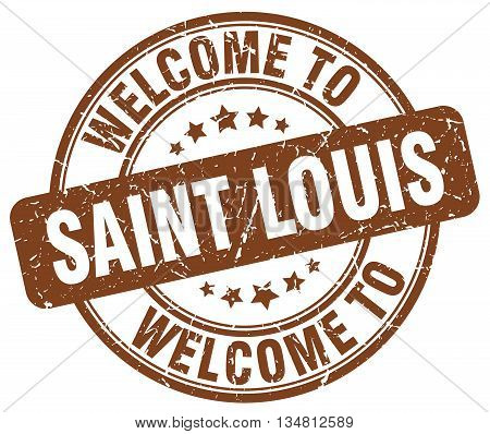 welcome to Saint Louis stamp. welcome to Saint Louis.