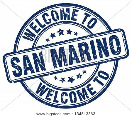 welcome to San Marino stamp. welcome to San Marino.