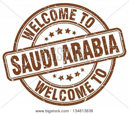 welcome to Saudi Arabia stamp. welcome to Saudi Arabia.