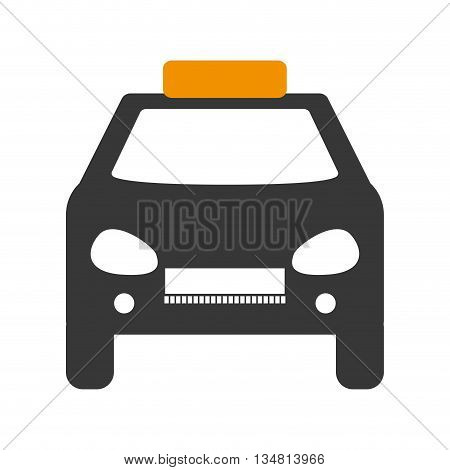 transportation concept represented by taxi or cab design over flat and isolated design