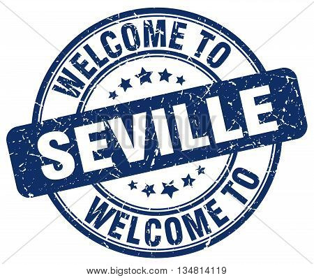 welcome to Seville stamp. welcome to Seville.