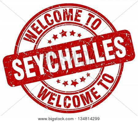 welcome to Seychelles stamp. welcome to Seychelles.