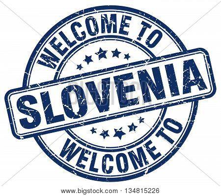 welcome to Slovenia stamp. welcome to Slovenia.