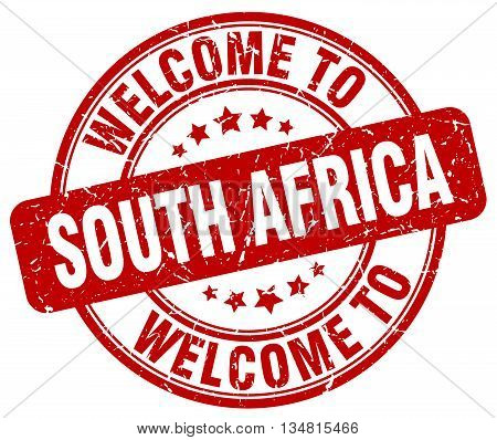 welcome to South Africa stamp. welcome to South Africa.
