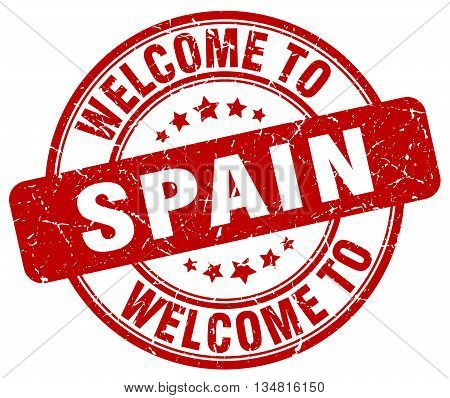 welcome to Spain stamp. welcome to Spain.