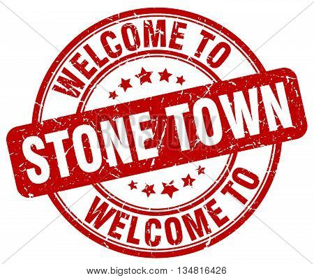 welcome to Stone Town stamp. welcome to Stone Town.