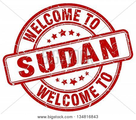 welcome to Sudan stamp. welcome to Sudan.