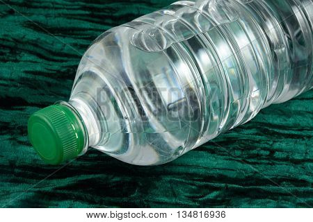 Close up of Purified bottled water in plastic bottle
