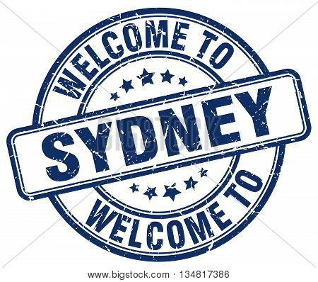 welcome to Sydney stamp. welcome to Sydney.