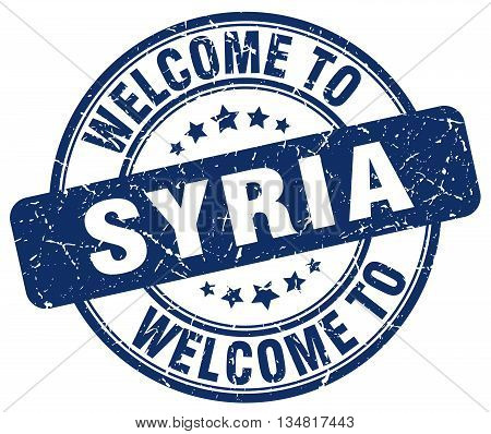 welcome to Syria stamp. welcome to Syria.
