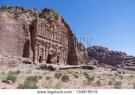 The Palace Tomb  Of The Royal Tombs, Petra , Jordan