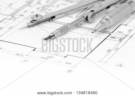 Loor Plan Background With Drawing Tools