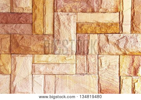 The sand stone wall Background of decorate
