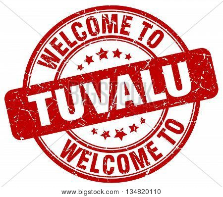 welcome to Tuvalu stamp. welcome to Tuvalu.