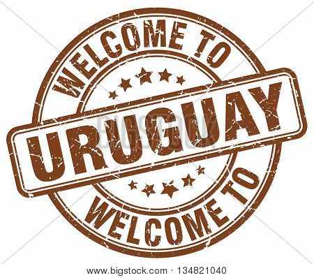 welcome to Uruguay stamp. welcome to Uruguay.