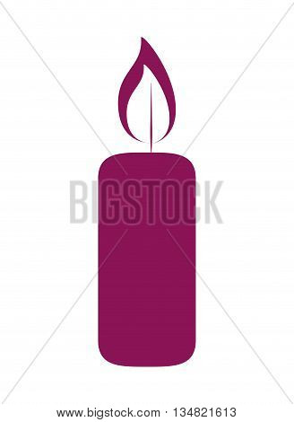 candlelight with candle  over isolated and flat background, vector illustration