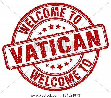 welcome to Vatican stamp. welcome to Vatican.