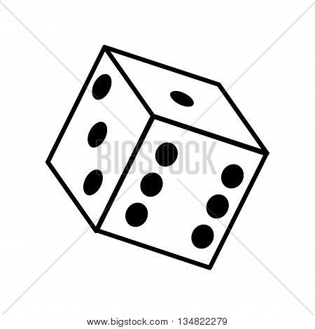 Casino and las vegas represented by dice over isolated and flat illustration