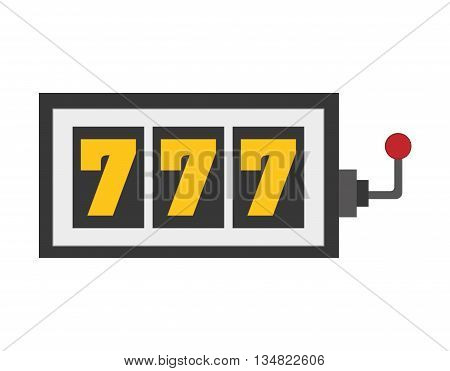 Casino and las vegas represented by slot machine over isolated and flat illustration