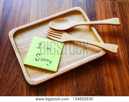 I'm sorry post it with wooden plate in morning
