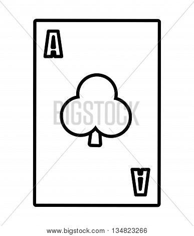 Casino and las vegas represented card over isolated and flat illustration
