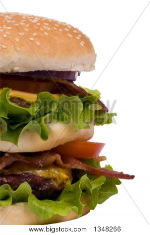 Hamburger Series (Bacon Cheeseburger Half View)