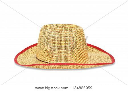 The straw hat isolate on white background