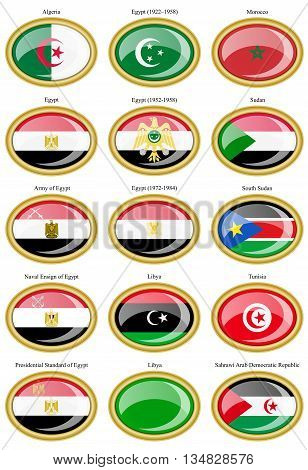 Flags Of The North Africa