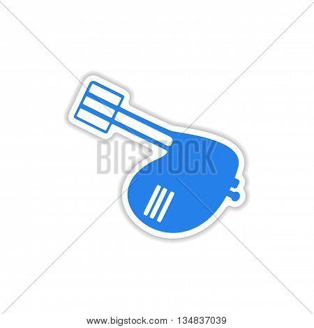 icon sticker realistic design on paper mixer