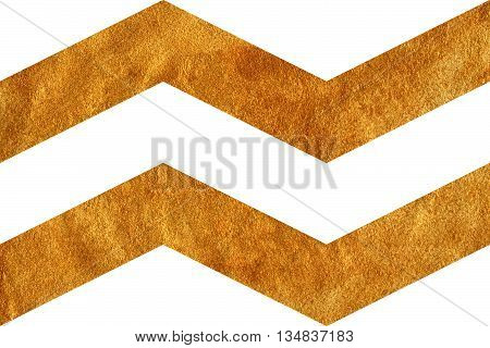 Golden Broken Line On White Background, Chevron.