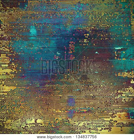 Abstract vintage colored background. With different color patterns: yellow (beige); brown; green; blue; red (orange); purple (violet)