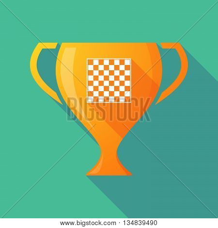 Long Shadow Award Cup Icon With  A Chess Board