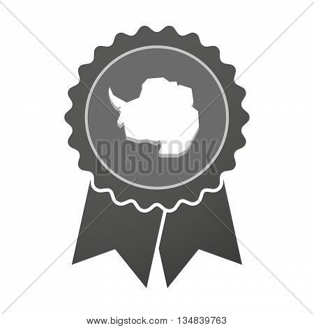 Isolated Award Badge With  The Map Of  Antarctica