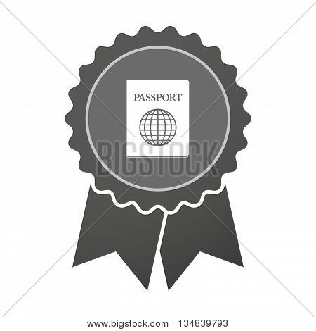 Isolated Award Badge With  A Passport