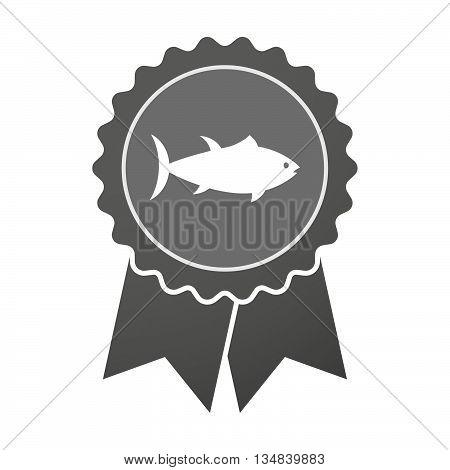 Isolated Award Badge With  A Tuna Fish