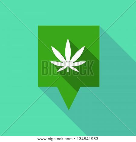 Long Tooltip Icon With A Marijuana Leaf