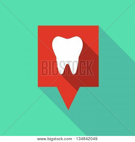 Long Tooltip Icon With A Tooth