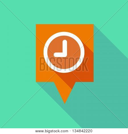 Long Tooltip Icon With A Clock