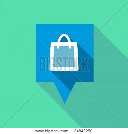 Long Tooltip Icon With A Shopping Bag