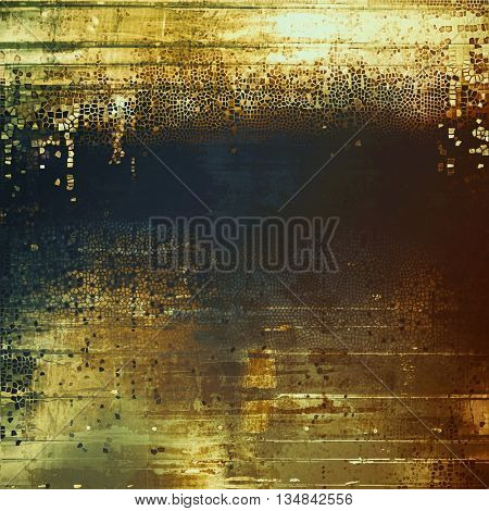 Retro colorful background or creative old style texture with different color patterns: yellow (beige); brown; green; blue; gray; black