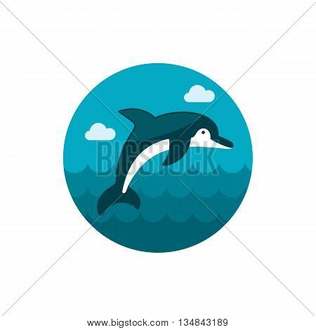 Dolphin vector icon. Beach. Summer. Summertime. Holiday. Vacation eps 10