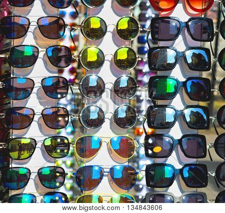 In London Glass And Sunglasses In The Light And Reflex