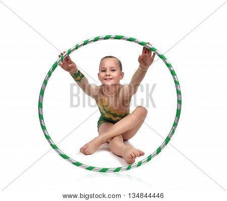 Little Girl With Hula Hoop