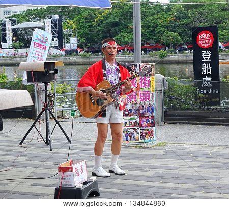 Japanese Style Street Musician